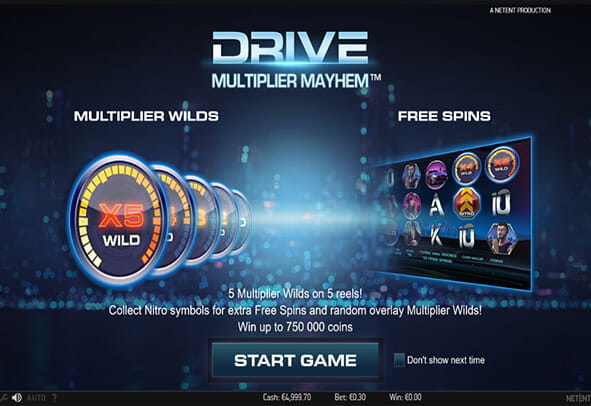 Drive Multiplier Mayhem slot - spil dette video slot online