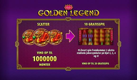 Golden Legend slot – spil online med rigtige penge