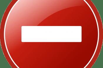 Billedet viser et rødt forbudt-skilt.